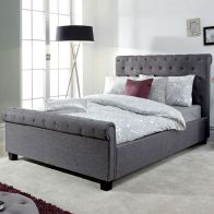 See more information about the Layla 5ft King Size Ottoman Bed Grey