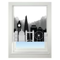 See more information about the Universal 60cm Black & Grey London Skyline Blackout Roller Blind