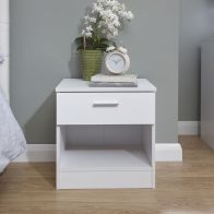 See more information about the Melbourne Bedside Table - White