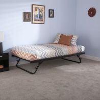 See more information about the Memphis Steel Trundle Bed 3ft Black Bed Frame