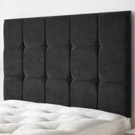 See more information about the Cambrian Linen Fabric Black 5ft King Size Bed Headboard