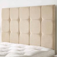 See more information about the Cambrian Linen Fabric Brown 5ft King Size Bed Headboard