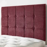 See more information about the Cambrian Linen Fabric Red 5ft King Size Bed Headboard