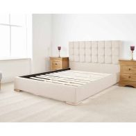 See more information about the Banks Upholstered Cream 6ft Super King Size Bed Frame