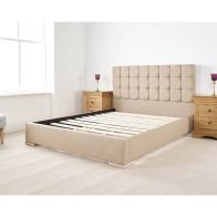 See more information about the Banks Upholstered Brown 6ft Super King Size Bed Frame