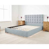 See more information about the Banks Upholstered Blue 6ft Super King Size Bed Frame