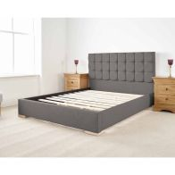 See more information about the Banks Upholstered Grey 6ft Super King Size Bed Frame