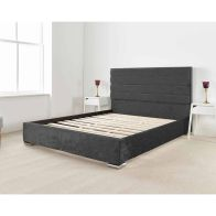 See more information about the Lanata Upholstered Black 6ft Super King Size Bed Frame