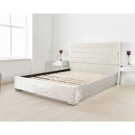 See more information about the Lanata Upholstered Pearl 6ft Super King Size Bed Frame