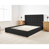 See more information about the Banks Upholstered Black 6ft Super King Size Bed Frame