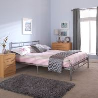 See more information about the Morgan 4ft Small Double Bed Frame Silver