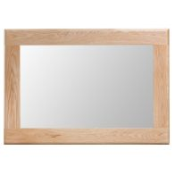 See more information about the Bayview Light Oak Wall Mirror with Wooden Frame