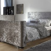 See more information about the Newark 5ft King Size TV Bed Crushed Velvet