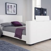 See more information about the Newark 5ft King Size TV Bed White
