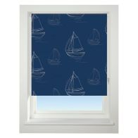 See more information about the Universal 60cm Blue Boats Daylight Roller Blind