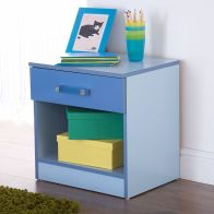 See more information about the Ottawa 2 Tones Blue 1 Drawer Bedside Cabinet