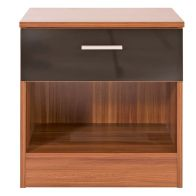See more information about the Ottawa Black & Walnut Finish Bedside Cabinet