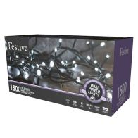 See more information about the 1500 LED White 149.9m Dual Power Christmas Tree Outdoor Lights