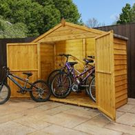 "See more information about the Mercia Overlap Apex Bike Garden Storage 7'3"" x 2'9''"