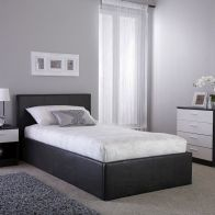 See more information about the Faux Leather Single Bed 3ft Brown Ottoman Bed Frame