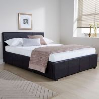 See more information about the Black Faux Leather Side Lift Ottoman Single (3ft) Bed Frame