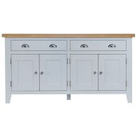 See more information about the Lighthouse Oak Top 4 Door 2 Drawer Sideboard - Grey