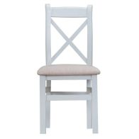 See more information about the Lighthouse Oak Top Crossback Chair Fabric - Grey