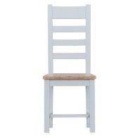 See more information about the Lighthouse Oak Top Ladderback Chair Wooden - Grey