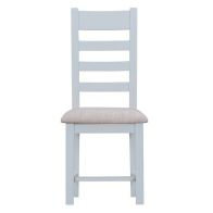 See more information about the Lighthouse Oak Top Ladderback Chair Fabric - Grey