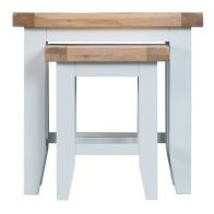 See more information about the Lighthouse Oak Top Nest of 2 Tables - White