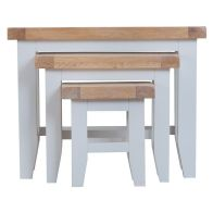 See more information about the Lighthouse Oak Top Nest of 3 Tables - Grey