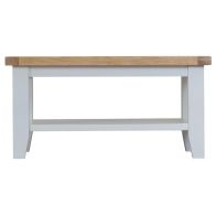 See more information about the Lighthouse Oak Top Small Coffee Table - Grey