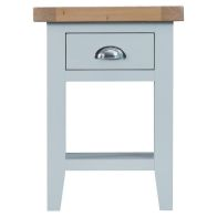 See more information about the Lighthouse Oak Top 1 Drawer Side Table - Grey