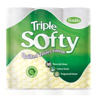 See more information about the 9 Pack Triple Soft White 3 Ply Toilet Tissue