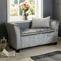 See more information about the Verona Crushed Velvet Grey Storage Window Seat