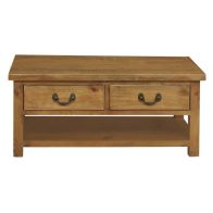 See more information about the Rustic Oak 2 Drawer Coffee Table