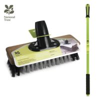 "See more information about the National Trust Garden 9"" Wire Broom & PVC Patio Brush & Handle"